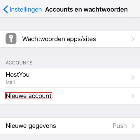 Accounts en wachtwoorden